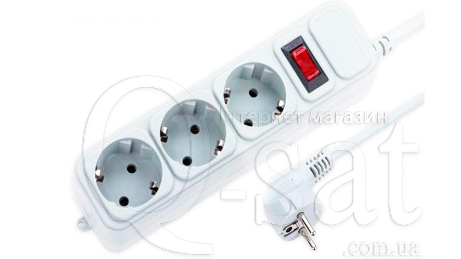 Подовжувач електричний MAXXTER SPM3-G-10G на 3 розетки (3м).